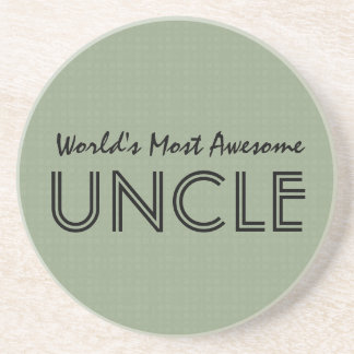 World's Most Awesome UNCLE Clay Squares Pattern Drink Coaster