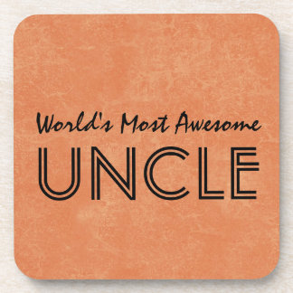 Worlds Most Awesome Uncle Home Gift Item Coasters