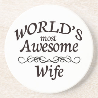 World's Most Awesome Wife Beverage Coasters