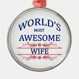 World's Most Awesome Wife Ornament