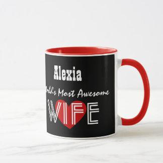 World's Most Awesome WIFE Hearts V03J4 Mug