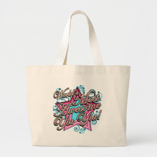 Worlds Most Awesome Yia Yia Large Tote Bag