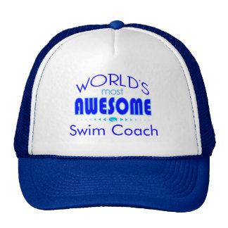 World's Most Best Swim Coach Swimming Instructor Cap