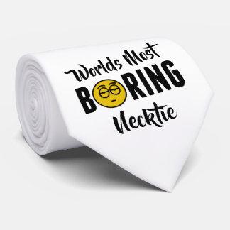 Worlds Most Boring Funny Emoji Novelty Tie