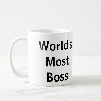 """World's Most Boss"" - Funny Mug"