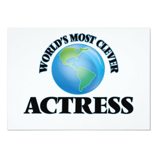 """World's Most Clever Actress 5"""" X 7"""" Invitation Card"""