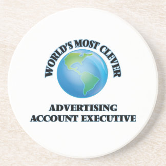 World's Most Clever Advertising Account Executive Beverage Coaster