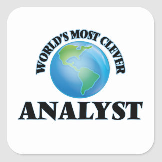 World's Most Clever Analyst Square Sticker