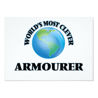 """World's Most Clever Armourer 5"""" X 7"""" Invitation Card"""
