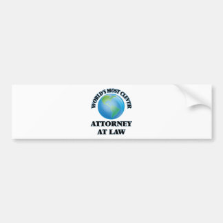 World's Most Clever Attorney At Law Bumper Sticker