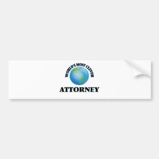 World's Most Clever Attorney Bumper Stickers