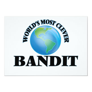 """World's Most Clever Bandit 5"""" X 7"""" Invitation Card"""