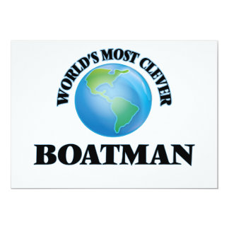 World's Most Clever Boatman Card