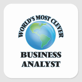 World's Most Clever Business Analyst Square Sticker