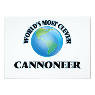 World's Most Clever Cannoneer Card