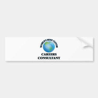 World's Most Clever Careers Consultant Bumper Stickers