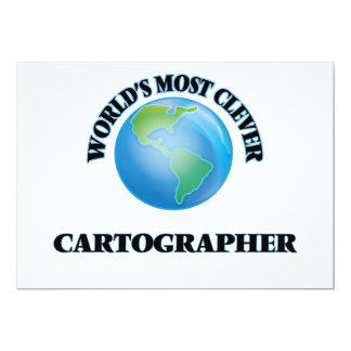 World's Most Clever Cartographer 5x7 Paper Invitation Card