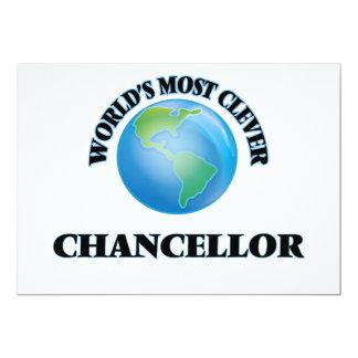 "World's Most Clever Chancellor 5"" X 7"" Invitation Card"