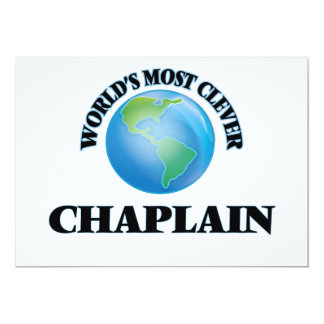 """World's Most Clever Chaplain 5"""" X 7"""" Invitation Card"""