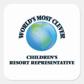 World's Most Clever Children's Resort Representati Square Sticker
