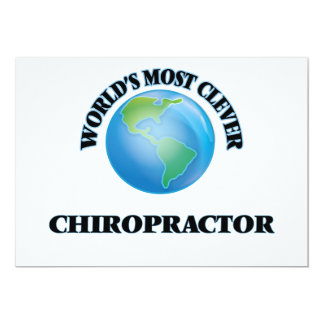 World's Most Clever Chiropractor 5x7 Paper Invitation Card