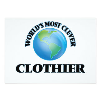 """World's Most Clever Clothier 5"""" X 7"""" Invitation Card"""