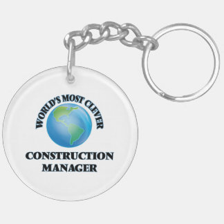 World's Most Clever Construction Manager Acrylic Keychains