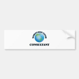 World's Most Clever Consultant Bumper Sticker