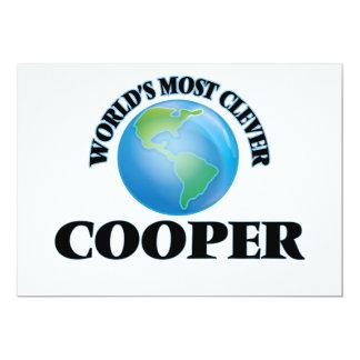 "World's Most Clever Cooper 5"" X 7"" Invitation Card"