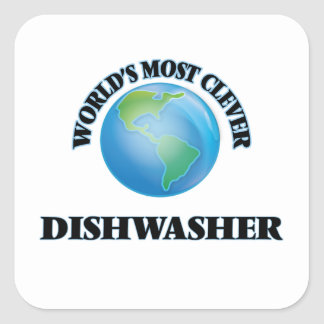 World's Most Clever Dishwasher Square Sticker