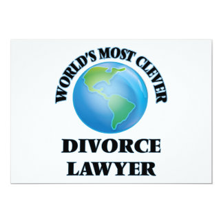 World's Most Clever Divorce Lawyer 5x7 Paper Invitation Card