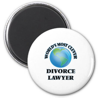 World's Most Clever Divorce Lawyer 6 Cm Round Magnet