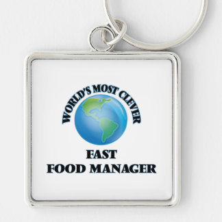 World's Most Clever Fast Food Manager Key Chain