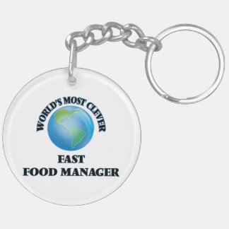 World's Most Clever Fast Food Manager Key Chains
