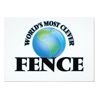"""World's Most Clever Fence 5"""" X 7"""" Invitation Card"""