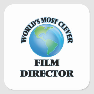 World's Most Clever Film Director Square Sticker