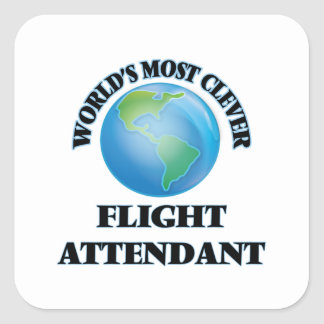 World's Most Clever Flight Attendant Square Sticker