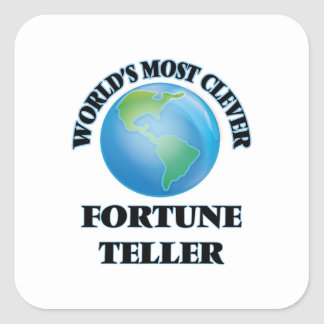 World's Most Clever Fortune Teller Square Sticker
