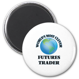 World's Most Clever Futures Trader 6 Cm Round Magnet