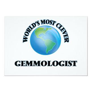 World's Most Clever Gemmologist 5x7 Paper Invitation Card