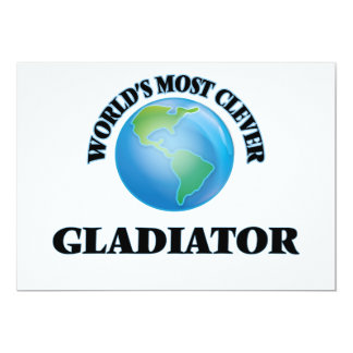 World's Most Clever Gladiator 5x7 Paper Invitation Card