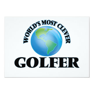 """World's Most Clever Golfer 5"""" X 7"""" Invitation Card"""