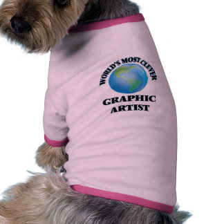 World's Most Clever Graphic Artist Dog Shirt