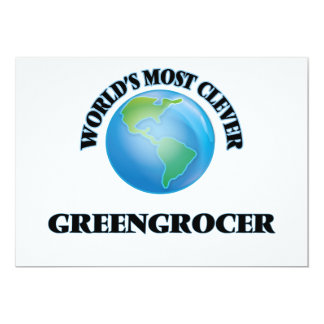 World's Most Clever Greengrocer 5x7 Paper Invitation Card