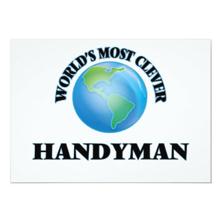World's Most Clever Handyman 5x7 Paper Invitation Card