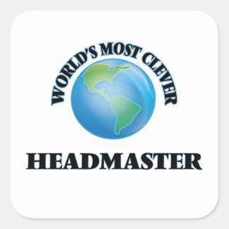 World's Most Clever Headmaster Square Sticker