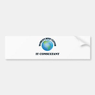World's Most Clever It Consultant Bumper Stickers