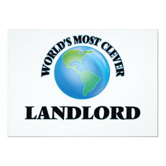 """World's Most Clever Landlord 5"""" X 7"""" Invitation Card"""