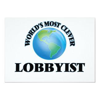"World's Most Clever Lobbyist 5"" X 7"" Invitation Card"