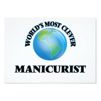 World's Most Clever Manicurist 5x7 Paper Invitation Card